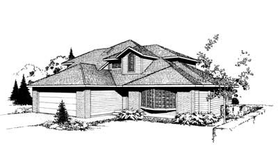 Southwest, Traditional House Plan 91663 with 3 Beds, 3 Baths, 2 Car Garage Elevation