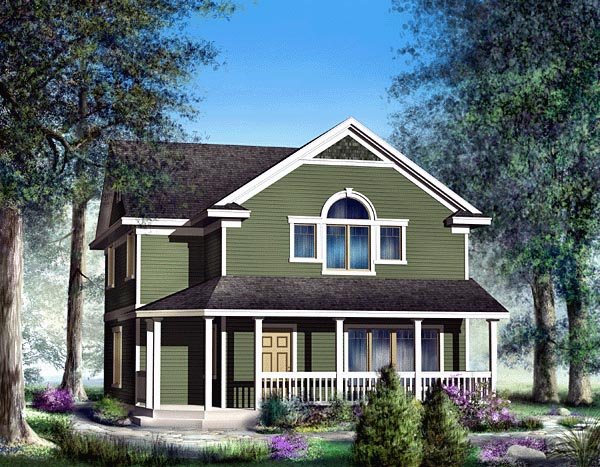 Bungalow, Country, Craftsman House Plan 91829 with 4 Beds, 3 Baths, 2 Car Garage Elevation