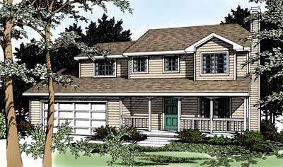 Country, Farmhouse, Traditional House Plan 91849 with 4 Beds, 3 Baths, 2 Car Garage Front Elevation