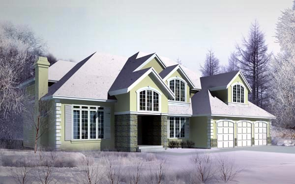 Country, European House Plan 91872 with 4 Beds, 5 Baths, 3 Car Garage Elevation