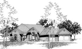 Traditional House Plan 92246 with 4 Beds, 3 Baths, 3 Car Garage Elevation
