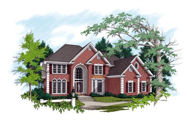 European, Traditional House Plan 92344 with 5 Beds, 4 Baths, 3 Car Garage Front Elevation
