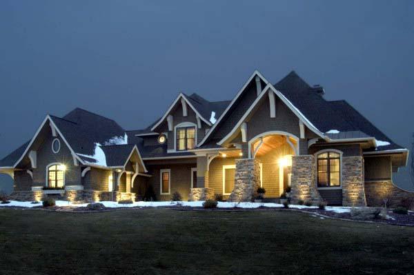 Craftsman House Plan 92351 with 5 Beds, 4 Baths, 3 Car Garage Elevation