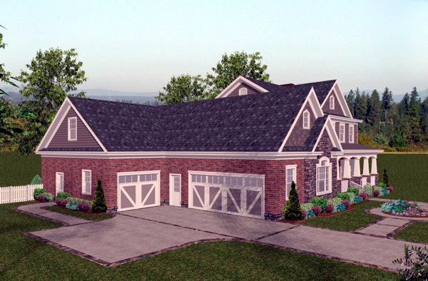 Colonial, Craftsman, Traditional House Plan 92392 with 4 Beds, 5 Baths, 3 Car Garage Picture 1