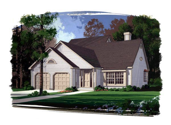 Country, Traditional House Plan 92409 with 3 Beds, 3 Baths Front Elevation