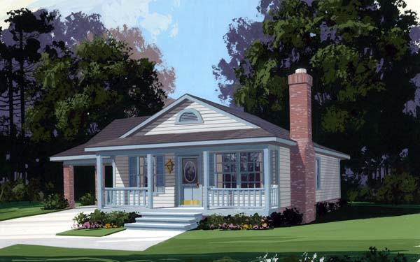 Country House Plan 92438 with 3 Beds, 2 Baths, 1 Car Garage Front Elevation