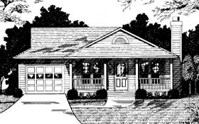 Country House Plan 92438 with 3 Beds, 2 Baths, 1 Car Garage Picture 1