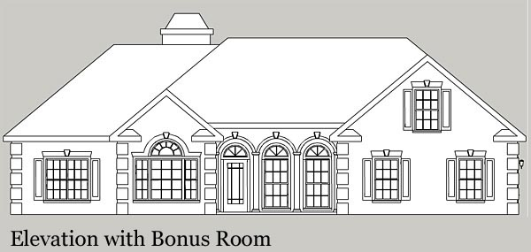 Ranch House Plan 92463 with 3 Beds, 3 Baths, 3 Car Garage Picture 1