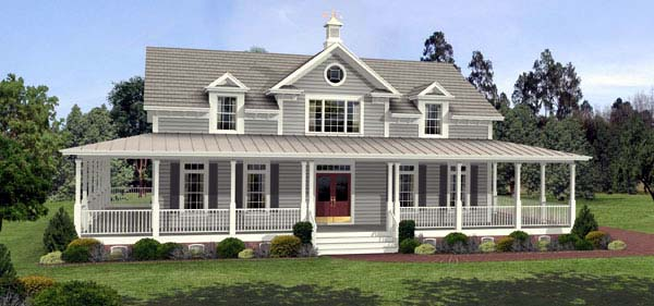 Country, Farmhouse, Southern House Plan 92465 with 3 Beds, 3 Baths, 3 Car Garage Elevation