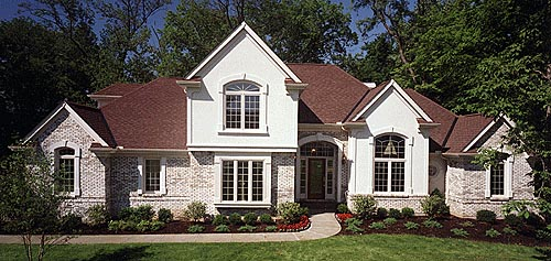 European House Plan 92640 with 3 Beds, 3 Baths, 2 Car Garage Elevation