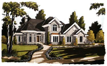 European House Plan 92651 with 4 Beds, 4 Baths, 2 Car Garage Elevation