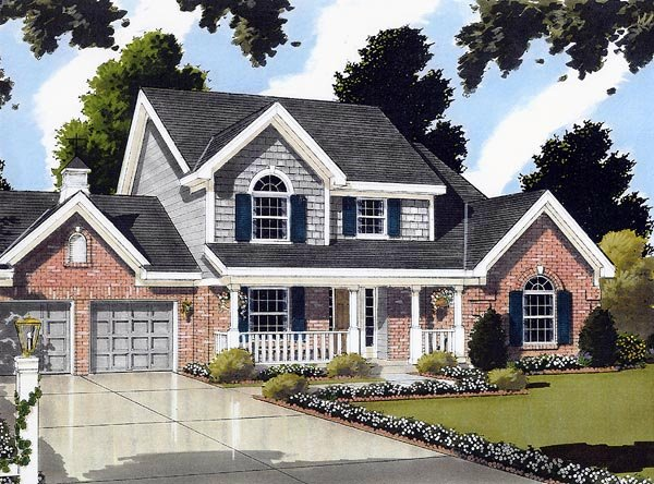 Bungalow, Country House Plan 92697 with 3 Beds, 3 Baths, 2 Car Garage Elevation