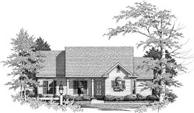 Cape Cod, Country House Plan 93082 with 3 Beds, 2 Baths, 2 Car Garage Elevation