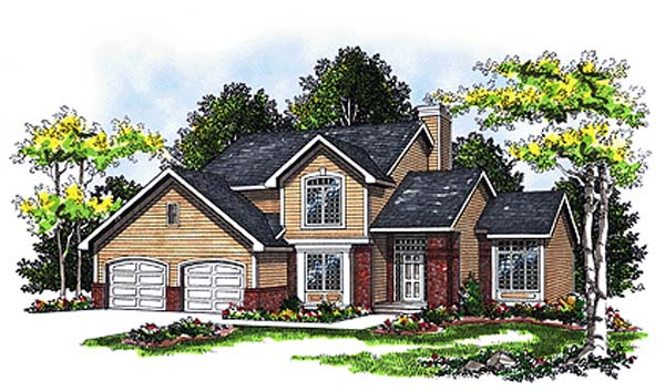Country House Plan 93101 with 3 Beds, 3 Baths Elevation