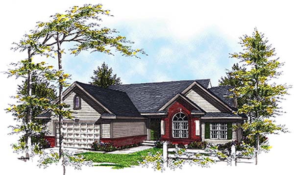 Country House Plan 93171 with 3 Beds, 3 Baths, 2 Car Garage Front Elevation