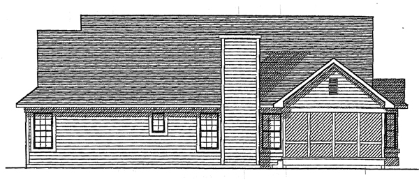 Country House Plan 93171 with 3 Beds, 3 Baths, 2 Car Garage Rear Elevation