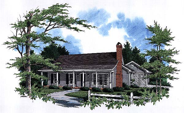 Cabin, Country House Plan 93453 with 3 Beds, 2 Baths, 2 Car Garage Front Elevation