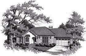 Plan Number 93454 - 1388 Square Feet