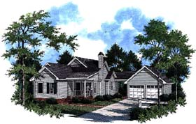 Plan Number 93469 - 1391 Square Feet