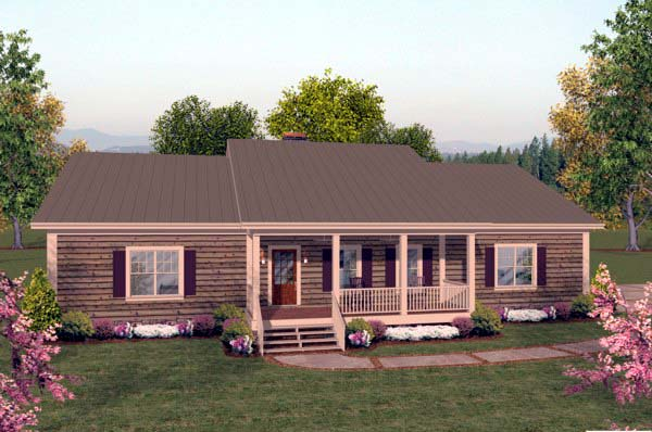 House Plan 93480 with 2 Beds, 3 Baths, 3 Car Garage Elevation