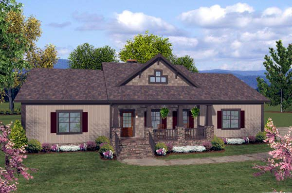 House Plan 93482 with 3 Beds, 2 Baths, 3 Car Garage Elevation