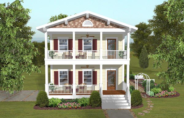 Colonial, Southern House Plan 93494 with 3 Beds, 4 Baths, 2 Car Garage Front Elevation