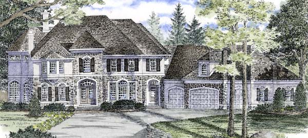 Traditional House Plan 94172 with 4 Beds, 6 Baths, 4 Car Garage Front Elevation