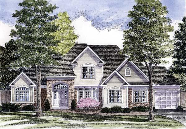 European, Tudor House Plan 94175 with 3 Beds, 3 Baths, 3 Car Garage Front Elevation