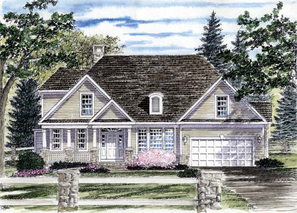 Country House Plan 94177 with 3 Beds, 3 Baths, 2 Car Garage Front Elevation
