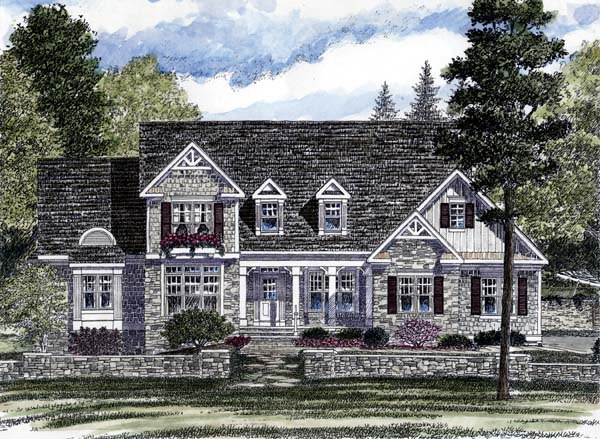 Country, European House Plan 94179 with 3 Beds, 3 Baths, 3 Car Garage Front Elevation