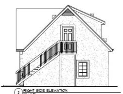 3 Car Garage Apartment Plan 94342 with 1 Beds, 1 Baths Picture 2