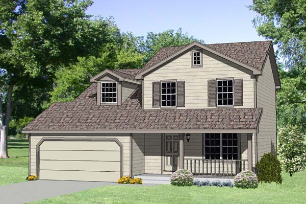 Country House Plan 94420 with 4 Beds, 3 Baths, 2 Car Garage Elevation