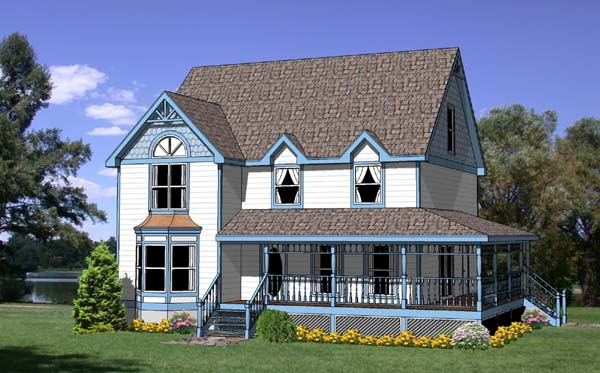 Country, Craftsman, Farmhouse House Plan 94424 with 4 Beds, 3 Baths Elevation