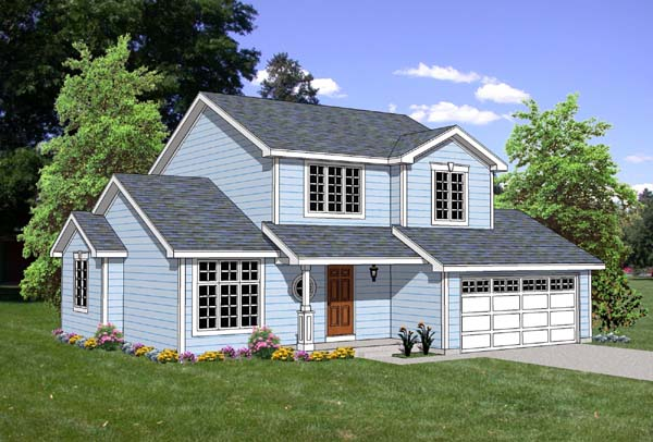Traditional House Plan 94443 with 5 Beds, 3 Baths, 2 Car Garage Elevation