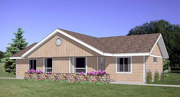 Traditional Multi-Family Plan 94481 with 4 Beds, 2 Baths Elevation