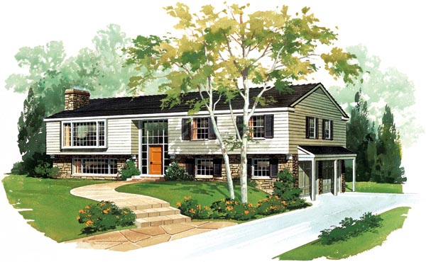 Ranch House Plan 95104 with 4 Beds, 3 Baths, 2 Car Garage Front Elevation