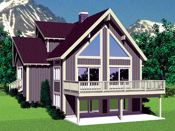 Contemporary House Plan 95269 with 4 Beds, 2 Baths Front Elevation
