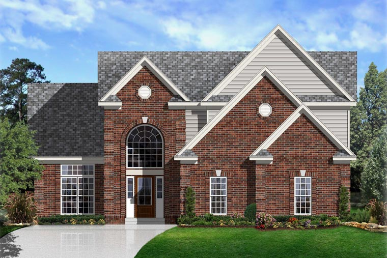 Traditional House Plan 95315 with 4 Beds, 3 Baths, 2 Car Garage Elevation