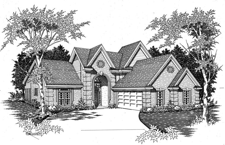 Traditional House Plan 95315 with 4 Beds, 3 Baths, 2 Car Garage Picture 1