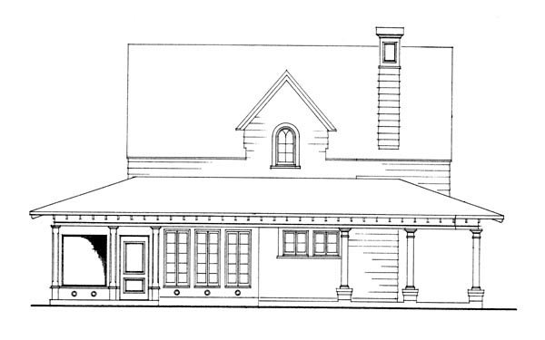 Cottage, Country, Craftsman, Farmhouse House Plan 95541 with 3 Beds, 2 Baths, 2 Car Garage Picture 4