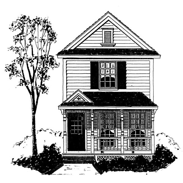 Country House Plan 95732 with 2 Beds, 3 Baths Elevation