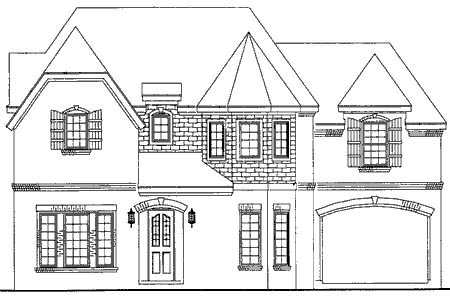 European House Plan 95742 with 4 Beds, 5 Baths, 2 Car Garage Elevation