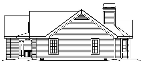 Country, Traditional House Plan 95801 with 3 Beds, 2 Baths, 2 Car Garage Picture 2