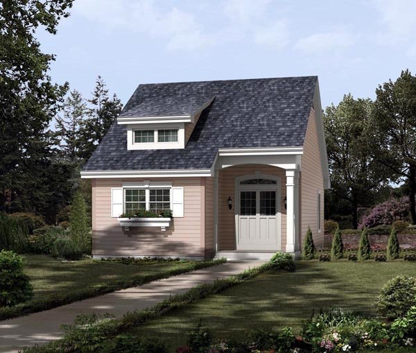 Contemporary, Traditional House Plan 95813 with 2 Beds, 1 Baths Front Elevation