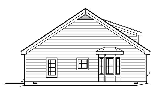 Contemporary, Traditional House Plan 95813 with 2 Beds, 1 Baths Picture 1