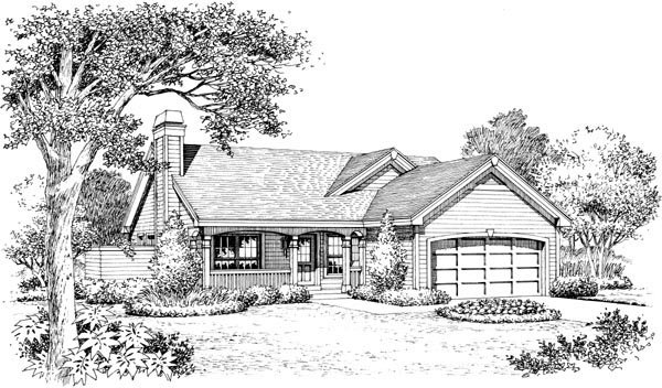 Country, Ranch, Traditional House Plan 95816 with 4 Beds, 3 Baths, 2 Car Garage Picture 3