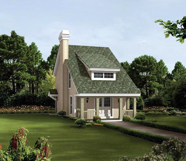 Bungalow, Cabin, Cottage, Country, Traditional House Plan 95817 with 2 Beds, 2 Baths Elevation
