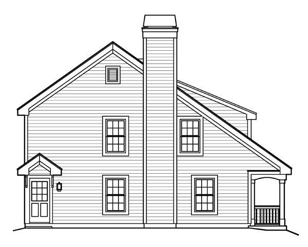 Bungalow, Cabin, Cottage, Country, Traditional House Plan 95817 with 2 Beds, 2 Baths Picture 1