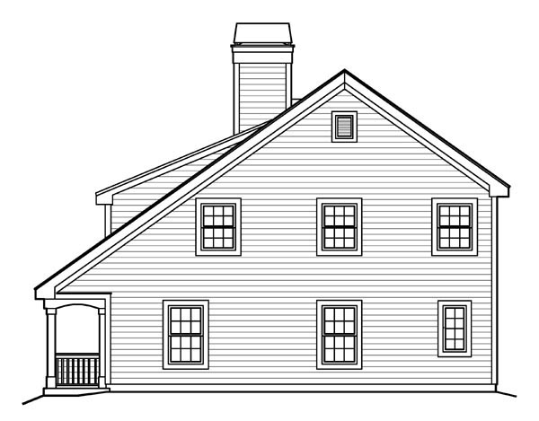 Bungalow, Cabin, Cottage, Country, Traditional House Plan 95817 with 2 Beds, 2 Baths Picture 2