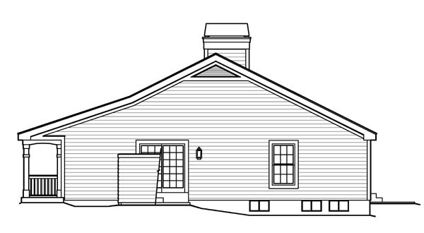 Cabin, Cottage, Country, Ranch, Traditional House Plan 95818 with 3 Beds, 2 Baths, 2 Car Garage Picture 2